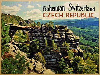 Czech Republic Digital Art - Bohemian Switzerland Czech Republic by Flo Karp