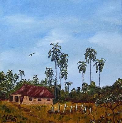 Painting - Bohio And Palmeras by Maria Soto Robbins