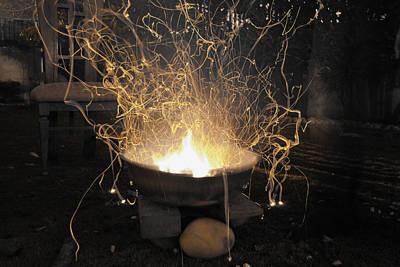 Abstract Photograph - Bonfire by Sumit Mehndiratta
