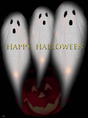 Haunted House Party Mixed Media - Boo-boo-boo by Debra     Vatalaro