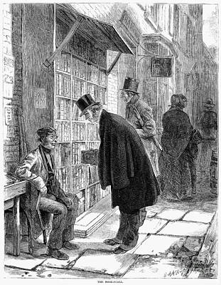 1874 Photograph - Book Stall, 1874 by Granger
