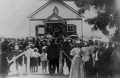 Booker T. Washington Addressing Crowd Print by Everett