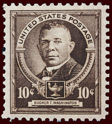 Booker T Washington Postage Stamp Print by James Hill