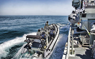 Royal Australian Navy Photograph - Border Security V3 by Douglas Barnard
