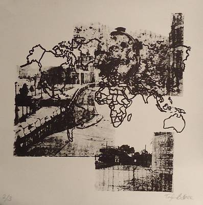 Borders 1 Print by Taylor Lee Bisbee