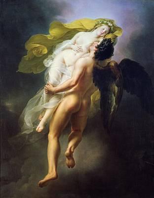 1822 Painting - Boreas Abducting Oreithyia by Joseph Ferdinand Lancernon