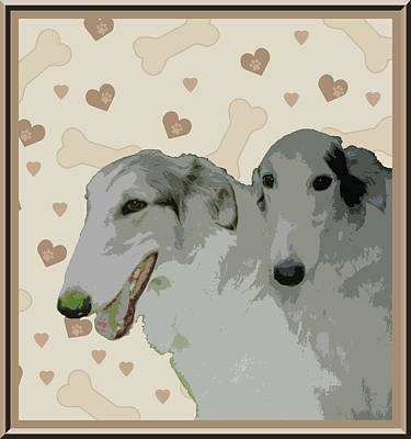 Borzoi Print by One Rude Dawg Orcutt