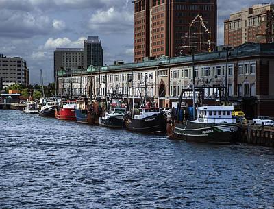 Boston Fishing Fleet Original by Gordon Gaul