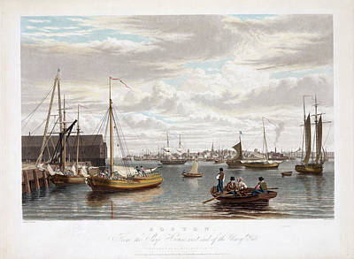 Boston Harbor Print by Charles Shoup