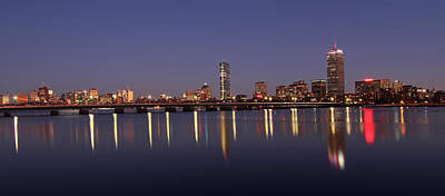 Boston Panoramic View Print by Juergen Roth