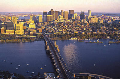 Boston Skyline & Longfellow Bridge Print by Vito Palmisano