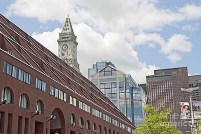 Boston Skyline With Custom House Original by Ruth H Curtis