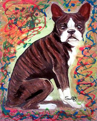 Boston Terrier Painting - Boston Terrier by Char Swift