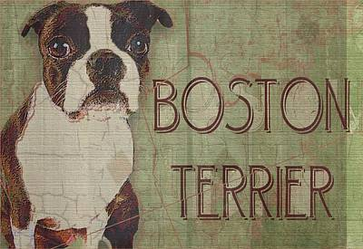Boston Terrier Print by Wendy Presseisen