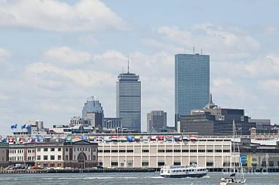 Boston World Trade Skyline Original by Ruth H Curtis