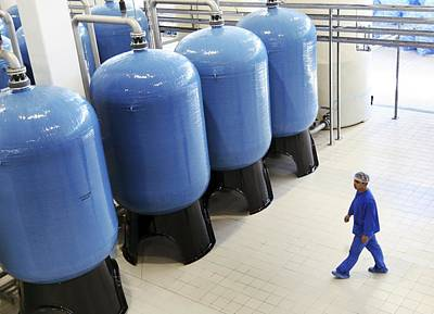 Bottled Water Production Print by Ria Novosti
