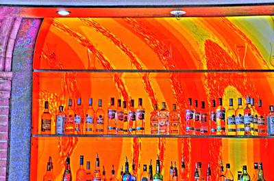 Hamburg Digital Art - Bottles by Barry R Jones Jr