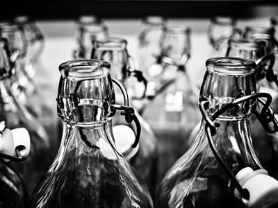 Bottles Print by Hakon Soreide