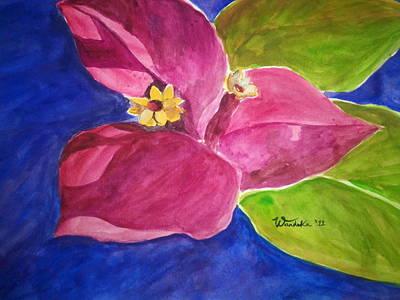 Jamaican Art Painting - Bougainvillea by Wandeka Gayle