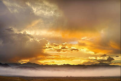 Colorful Photograph - Boulder Colorado Flagstaff Fire Sunset View by James BO  Insogna