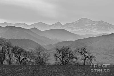 Boulder County Layers Bw Print by James BO  Insogna