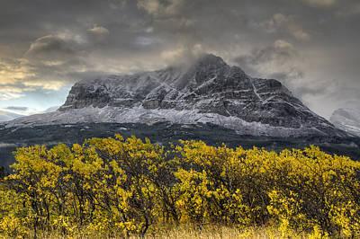 Many Glacier Photograph - Boulder Ridge by Mark Kiver