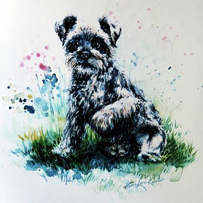 Cocker Spaniel Painting - Bouncer by Hanne Lore Koehler