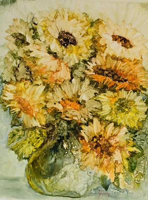 Bouquet Of Sunflowers Original by Joanne Smoley