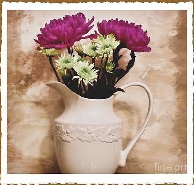Bouquet One Print by Marsha Heiken