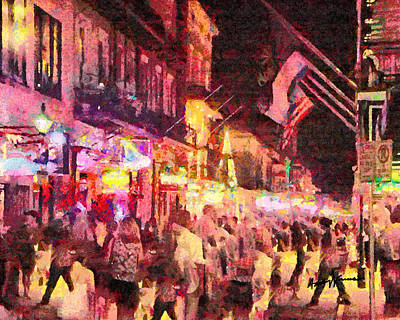Hurricane Digital Art - Bourbon Street by Anthony Caruso