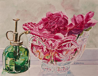 Camellia Painting - Bowl Full Of Spring by Jenny Armitage