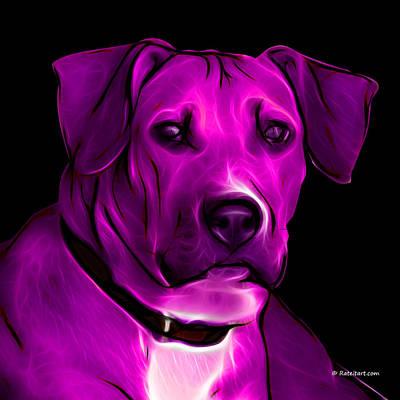 Boxer Pitbull Mix Pop Art - Magenta Print by James Ahn