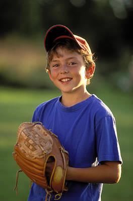 Boy With Baseball Glove Print by John Sylvester