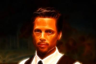 Brad Pitt II  Print by Lee Dos Santos