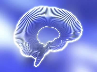 Brain Outline, Artwork Print by Pasieka