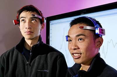 Brainwave-reading Headset Print by Volker Steger