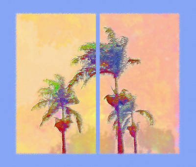 Latino Mixed Media - Brazilian Monsoon Sunset Diptych by Steve Ohlsen