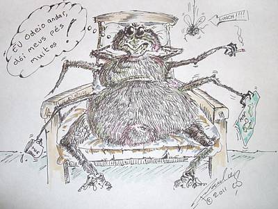 Spider Legs Mixed Media - Brazilian Wandering Spider by Paul Chestnutt