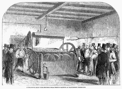Bread Making Photograph - Bread-making Machine, 1858 by Granger