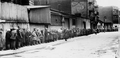 Bread Line Photograph - Breadline At Mccauley Water Street by Everett