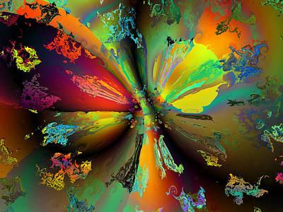 Generative Abstract Digital Art - Break Away by Claude McCoy