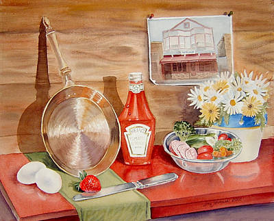 Ketchup Painting - Breakfast At Copper Skillet by Irina Sztukowski