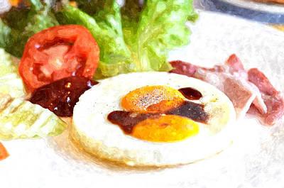 French Fried Painting - Breakfast No.1 by Rakratchada Torsap
