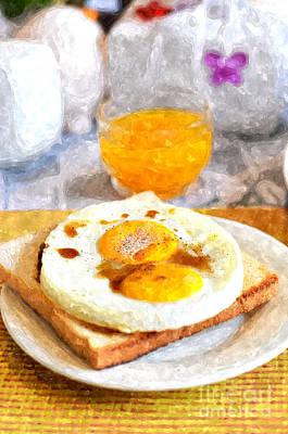 French Fried Painting - Breakfast No.2 by Rakratchada Torsap
