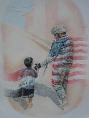 Memorial Day Drawing - Breaking Borders by Joanna Gates