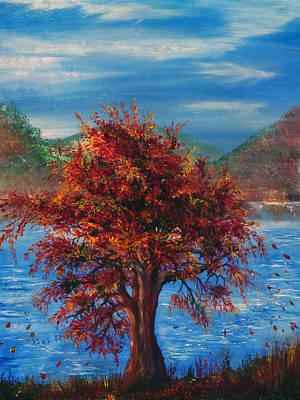Lake Painting - Breeze by Ann Marie Bone
