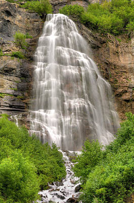 Bridal Veil Falls Print by Tom Kelly Photo