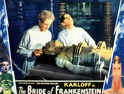 Posth Photograph - Bride Of Frankenstein, Ernest Thesiger by Everett