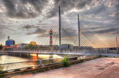 Hamburg Digital Art - Bridge by Barry R Jones Jr