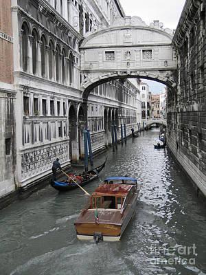 Bridge Of Sights. Venice Print by Bernard Jaubert